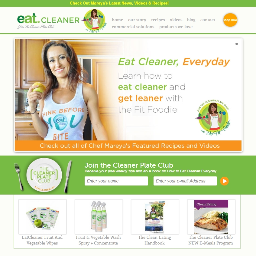 Eat Cleaner website top image 1